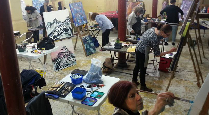 Abstract Painting classes, Art Classes, Sydney,